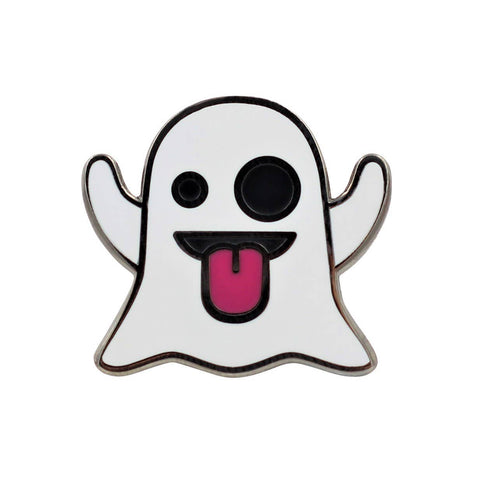 Ghost Emoji Enamel Pin