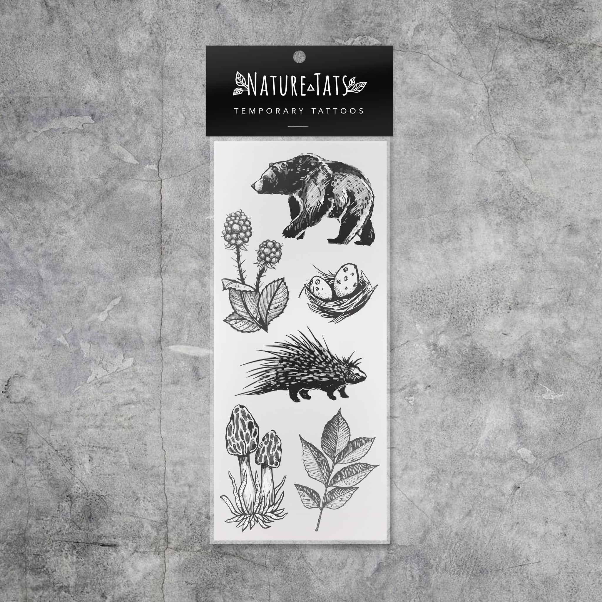 Forest Forage Temporary Tattoo