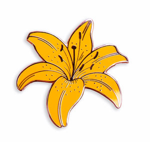 Yellow Lily Enamel Pin