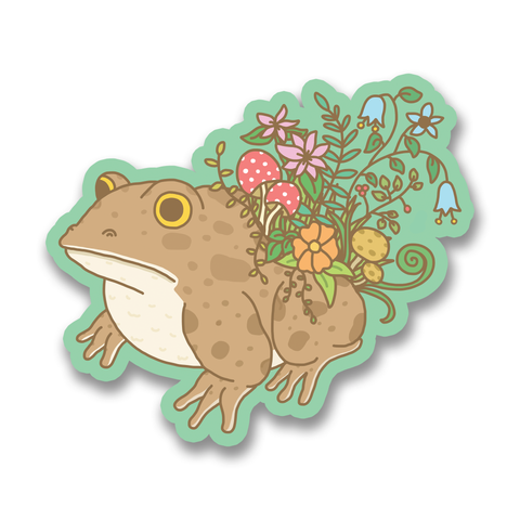 Botanical Toad Vinyl Sticker