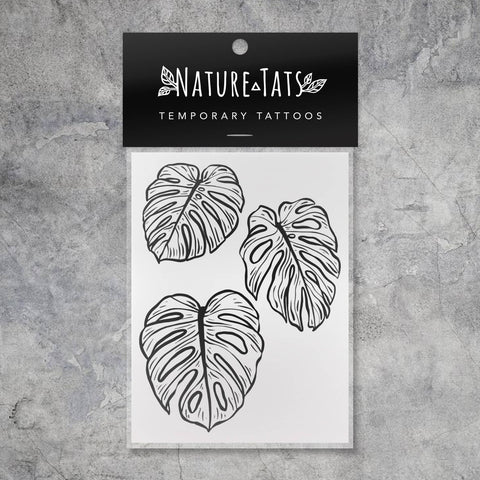 Monstera Leaves Temporary Tattoo