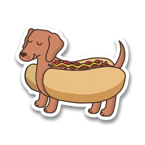 Hot Dog Vinyl Sticker
