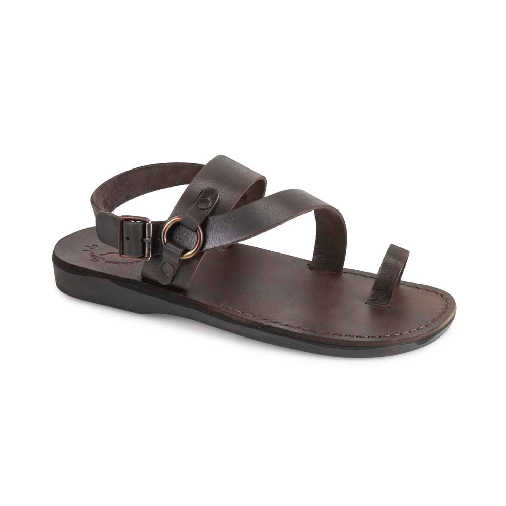 Gabriel Brown, handmade leather sandals with back strap and toe loop - Front View