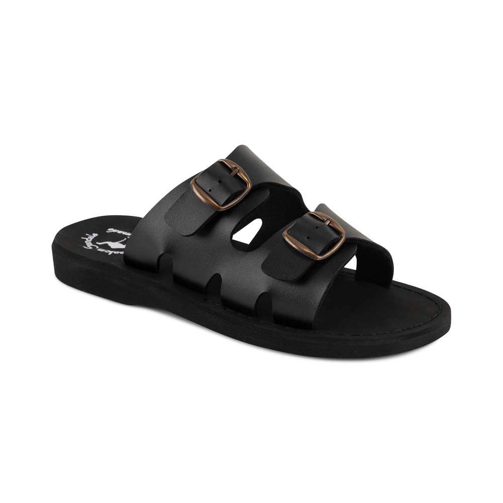 Barnabas - Vegan Leather Sandal | Black front view