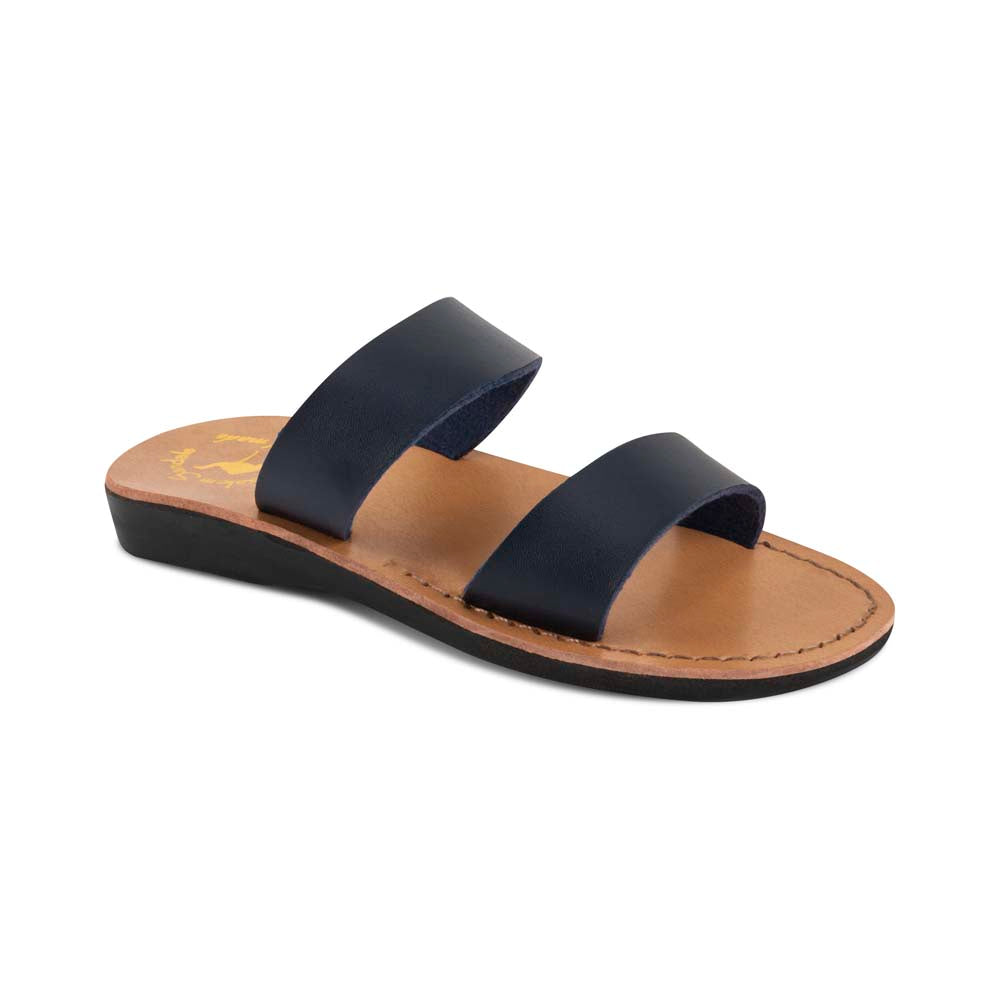 Aviv - Vegan Leather Sandal | Blue front view