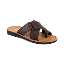Load image into Gallery viewer, Asher - Vegan Leather Sandal | Brown front view