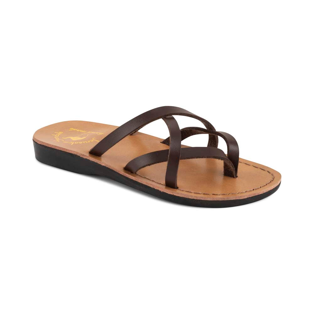 Tamar - Vegan Leather Sandal | Brown front view