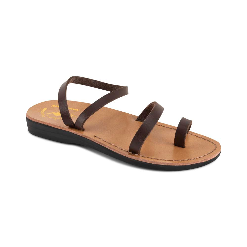 Ella - Vegan Leather Sandal | Brown front view