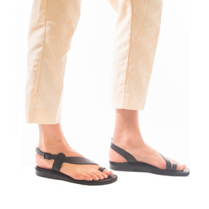 Mia - Leather Backstrap Sandal | Brown
