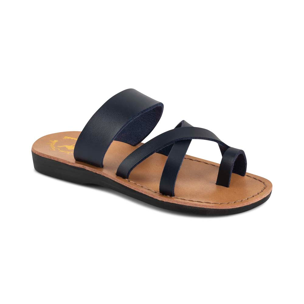 The Good Shepherd - Vegan Leather Sandal | Blue front view