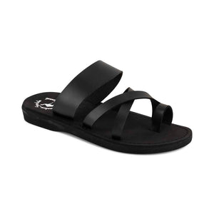 The Good Shepherd - Vegan Leather Sandal | Black front view