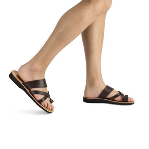 The Good Shepherd - Vegan Leather Sandal | Brown model view