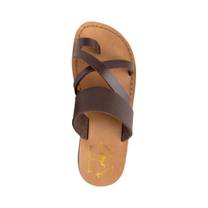 The Good Shepherd - Vegan Leather Sandal | Brown up view
