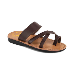 The Good Shepherd - Vegan Leather Sandal | Brown front view