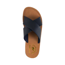 Load image into Gallery viewer, Elan - Vegan Leather Sandal | Blue up view
