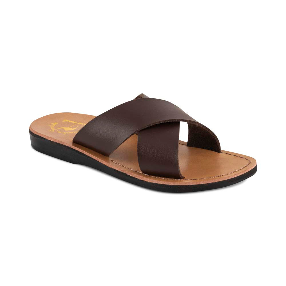 Elan - Vegan Leather Sandal | Brown front view