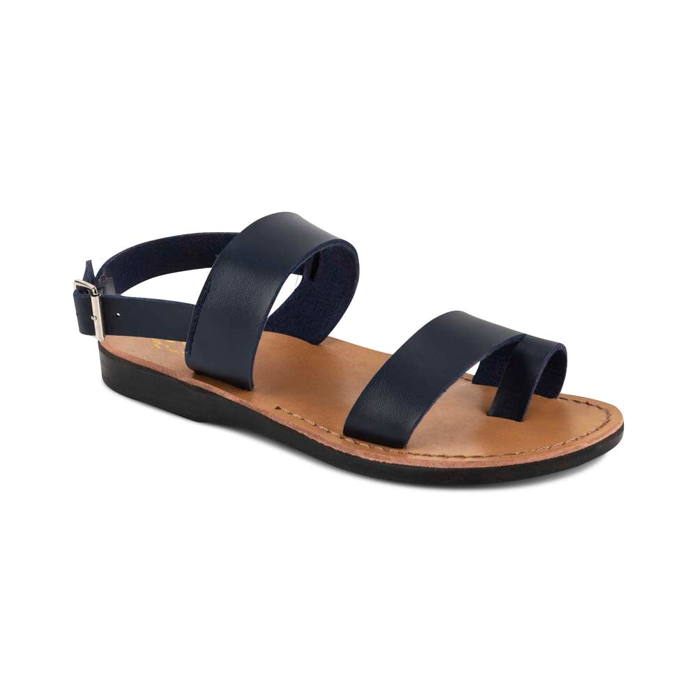 Carmel - Vegan Leather Sandal | Blue front view