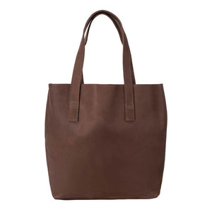 Classic Tote Leather Bag | Brown
