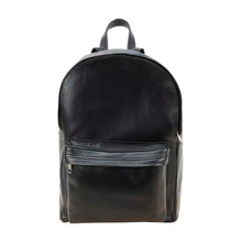 Load image into Gallery viewer, front Pocket Backpack black, handmade leather bag - Front View
