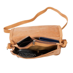 Leather Crossbody Bag | Natural