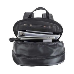 Leather Laptop Backpack in Black - cell one view
