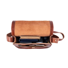 Load image into Gallery viewer, Small Cross Body Bag brown, handmade leather bag - inside View