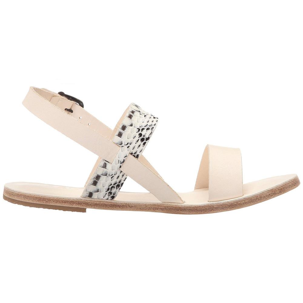 Abbot Kinney Blvd - Leather Snake Skin Sandal | Natural