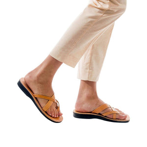Abigail - Leather Toe Sandal | Tan