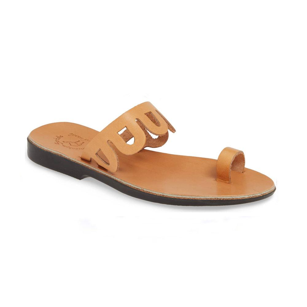 Aja - Leather Flat Sandal | Tan