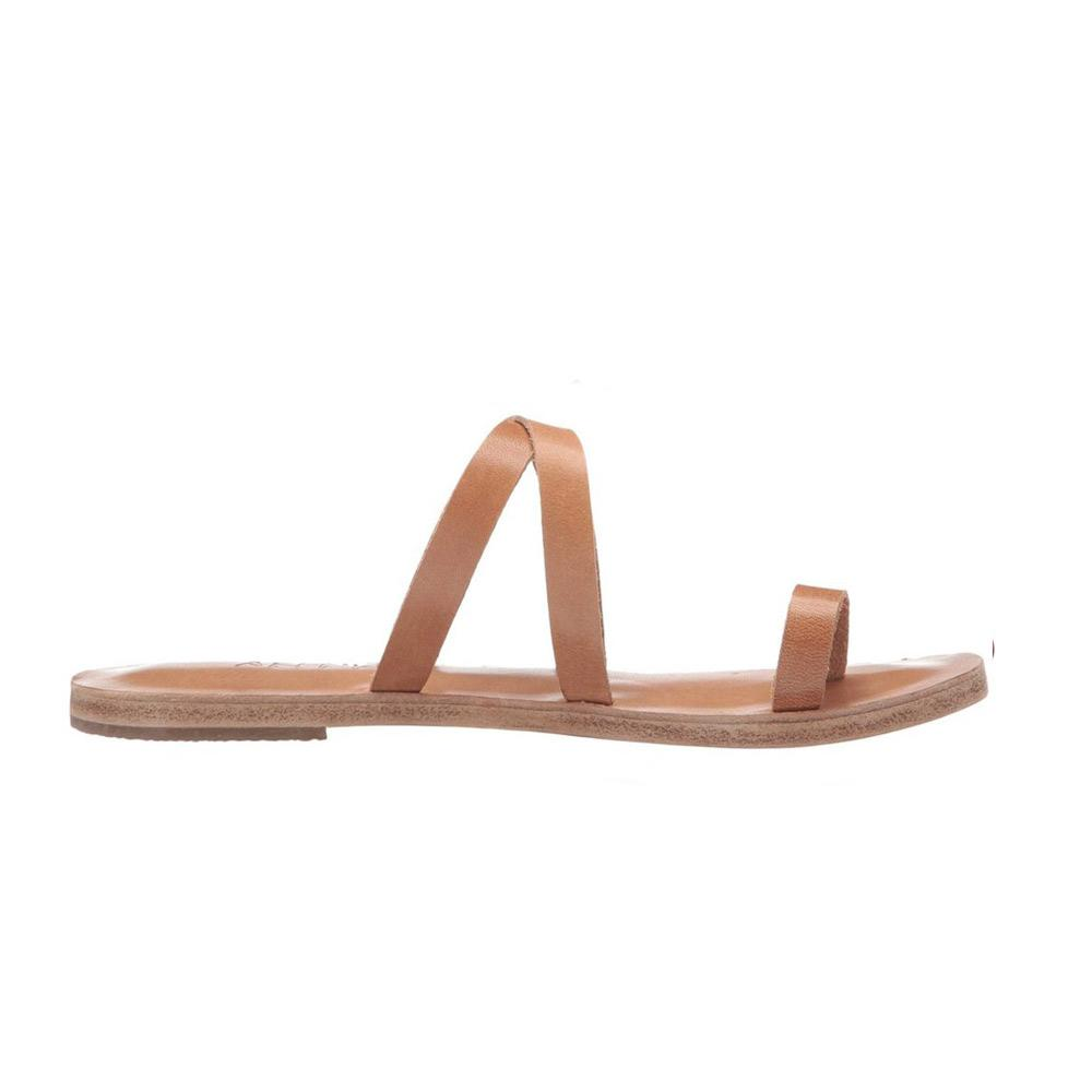 Hollywood Blvd - Leather Slip On Sandal | Tan