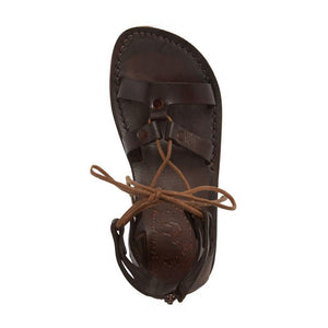 Rebecca brown, handmade leather sandals with back strap  - side View