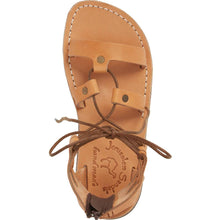 Load image into Gallery viewer, Rebecca Tan, handmade leather sandals with back strap  - Side View