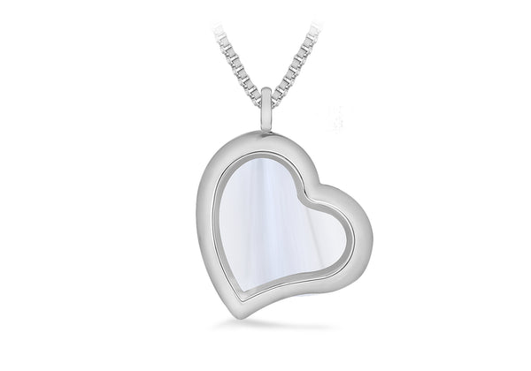 Heart Treasure Charm Locket on Box Chain