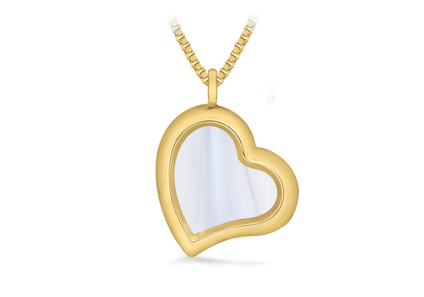 Polished Heart Treasure Charm Locket on Box Chain