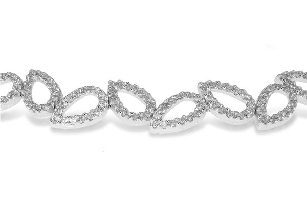 Leaf Link Bracelet 18ct White Gold & Diamonds9