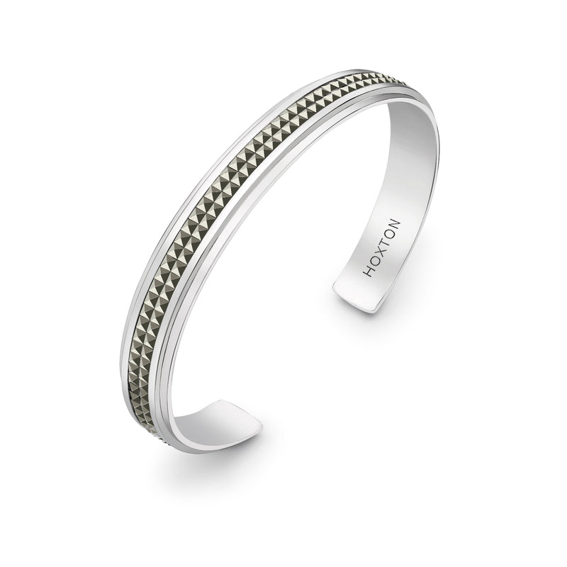 Hoxton London Mens Jewellery Sterling Silver Stripe Horizontal Striped Ring New