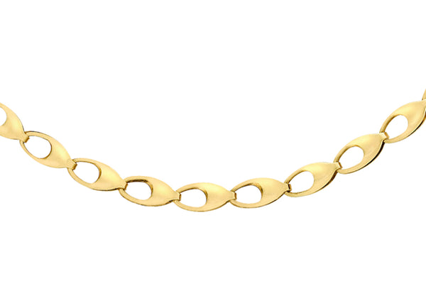 "9ct Yellow Gold Oval Link Chain 46m/18""9"