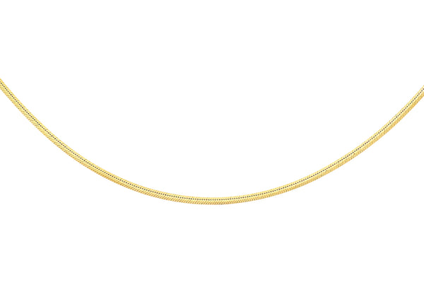 "9ct Yellow Gold Square Snake Chain 41m/16""9"