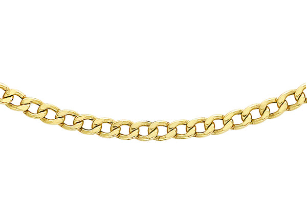 "9ct Yellow Gold 60 Curb Chain 41m/16""9"