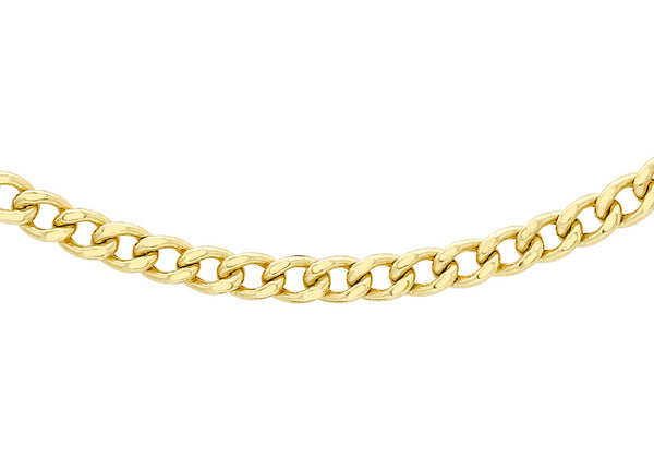 "9ct Yellow Gold 80 Curb Chain 46m/18""9"