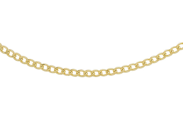 "9ct Yellow Gold 50 Flat Curb Chain 41m/16""9"