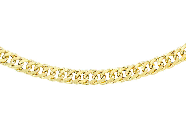 "9ct Yellow Gold 60 Triple Curb Chain 41m/16""9"