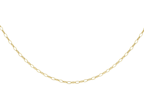 "9ct Yellow Gold Oval Belcher  Chain 41m/16""9"