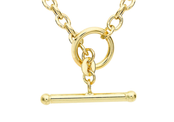 9ct Yellow Gold 100 T-Bar Oval Belcher  Chain