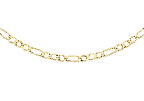 "9ct Yellow Gold 60 Figaro Chain 42m/16.5""9"