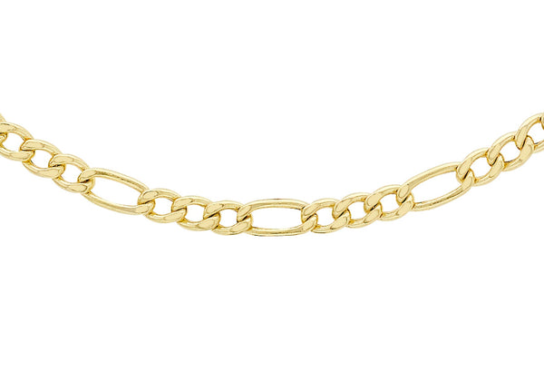"9ct Yellow Gold 80 Figaro Chain 41m/16""9"