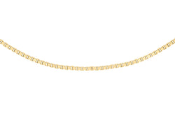 9ct Yellow Gold 9 Venetian Box Adjustable Chain