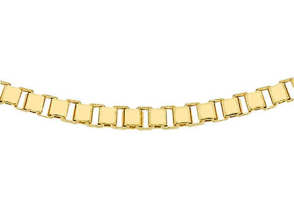 "9ct Yellow Gold 30 Venetian Box Chain 41m/16""9"
