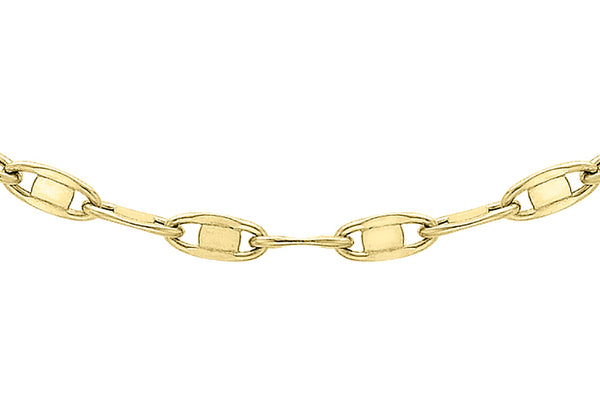 "9ct Yellow Gold Flat Oval Link Chain 41m/16""9"