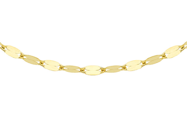 9ct Yellow Gold Sparkle Forzatina Chain
